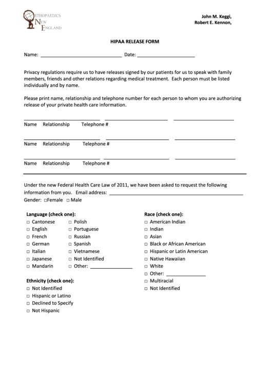 picture relating to Free Printable Hipaa Forms identify hipaa privateness sort -