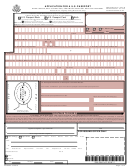 Application For A U.s. Passport (form Ds-5504)