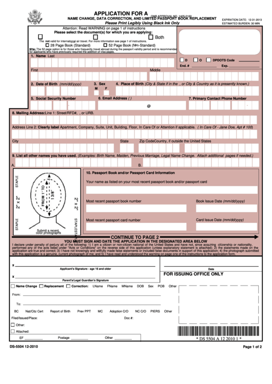 Top 5 Form Ds-5504 Templates free to download in PDF format