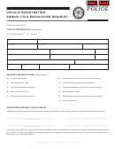 Vehicle Registration And/or Title Revocation Request