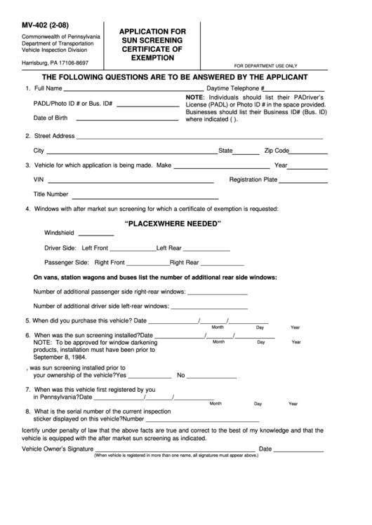 Top 10 Pa Drivers Permit Form Templates free to download in PDF ...