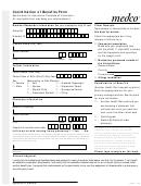 Form C2001 - Coordination Of Benefits Form
