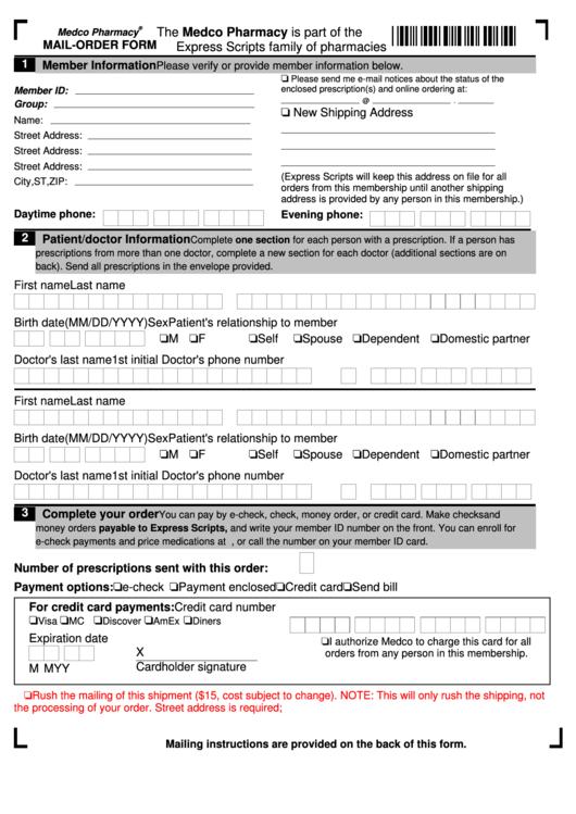 Mail Order Form
