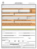 Form Ds-10 - Birth Affidavit - Us Department Of State