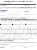 Bader Personal Property Insurance Participation Form