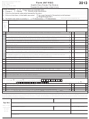 Form 207 Hcc - Health Care Center Tax Return - 2013