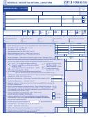 Form Mo-1040 - Individual Income Tax Return - Long Form - 2013