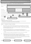 Declaration Form For The Deposit Of Household Waste And/or Use Of A Hire Vehicle
