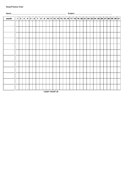 Study/practice Chart Template