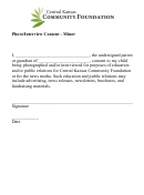 Minor Photo / Interview Consent Form