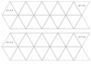 Blank Foldable Trihexaflexagon Template