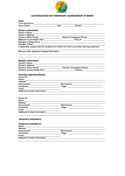 Top 5 Temporary Guardianship Form Texas Templates Free To Download .