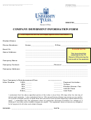 Company Deferment Information Form