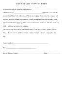 Mvr Release Consent Form
