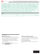 Form D-4a Certificate Of Nonresidence In The District Of Columbia