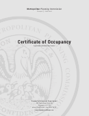 Certificate Of Occupancy Application
