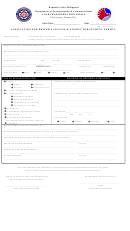 Application For Driver's License & Conductor/student Permit