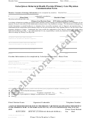 Valueoptions Behavioral Health Provider/primary Care Physician Form
