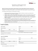 Assumption Of Liability Authorization Form - Agency To Agency
