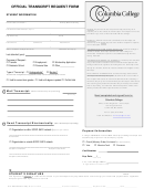 Columbia College Transcript Request Form