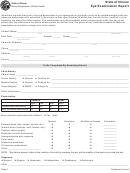 State Of Illinois Eye Examination Report Form