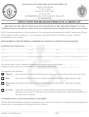 Application For Disabled Parking Placard/plate