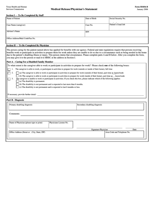 form h1836-b  physician u0026 39 s statement