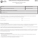 Form In-opt - Indiana Electronic Filing Opt-out Declaration - 2014