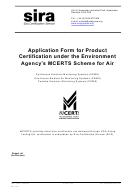 Product Certification Form