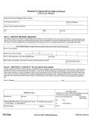 Form Doth 2067 - Request For Hawaii Driver History Record