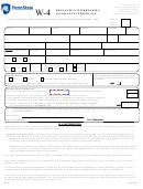 Form W4 - Employee Withholding Allowance Certificate - Pennsylvania State University