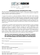 Insurance Billing Authorization Form