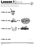 Foods I Like Activity