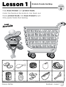 Protein Foods Sorting Activity