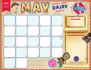 May Calendar Template - Dairy Month