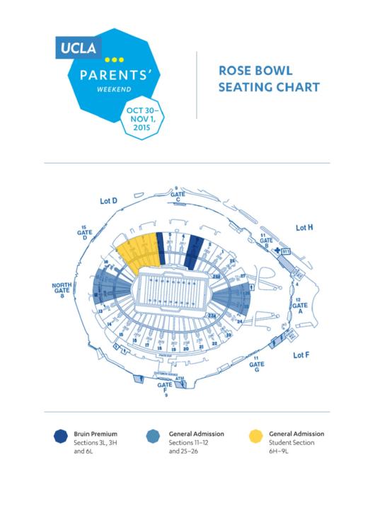 Rose Bowl Weekend Seating Chart