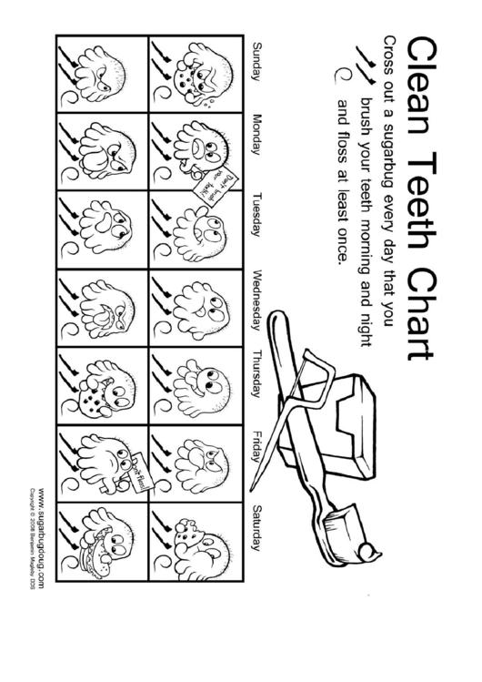Clean Teeth Chart For Kids