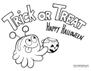 Trick Or Treat Coloring Sheet