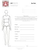 Bridal & Tux Size Chart