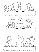 Easter Letter Decoration Templates To Color