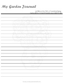 My Garden Journal Template