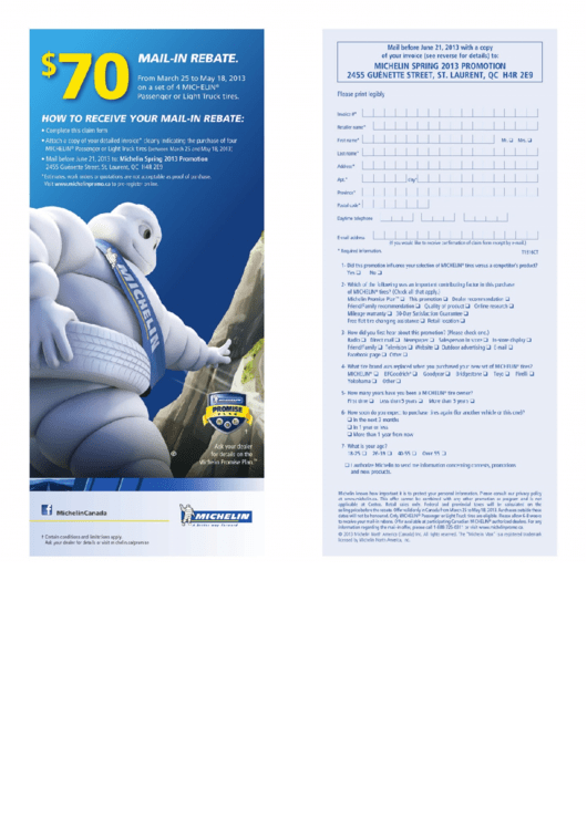 Top Michelin Rebate Form Templates free to download in PDF, Word ...