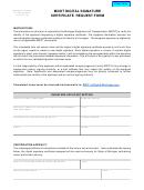 Mdot Digital Signature Certificate Request Form