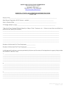 Municipal Ethics Law Exemption Information Form