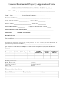 Ontario Residential Property Application Form