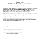 Hipaa Basic Training Acknowledgement Form