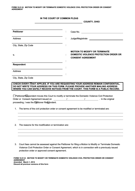 page_1_thumb_big Order A Court Form on ex parte, branch county, oakland county, umatilla county, for possession property, tsp retirement benefits, blank oregon, texas template,