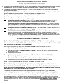 Application For License