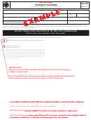 Form Tc-721 Example - Exemption Certificate