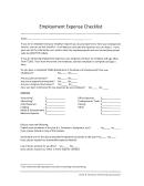 Employment Expense Checklist (cra Form T2200)